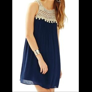 Lily Pulitzer Flowing Navy Blue Dress
